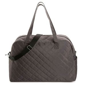 NWT DSW Grey Quilted Weekender Bag